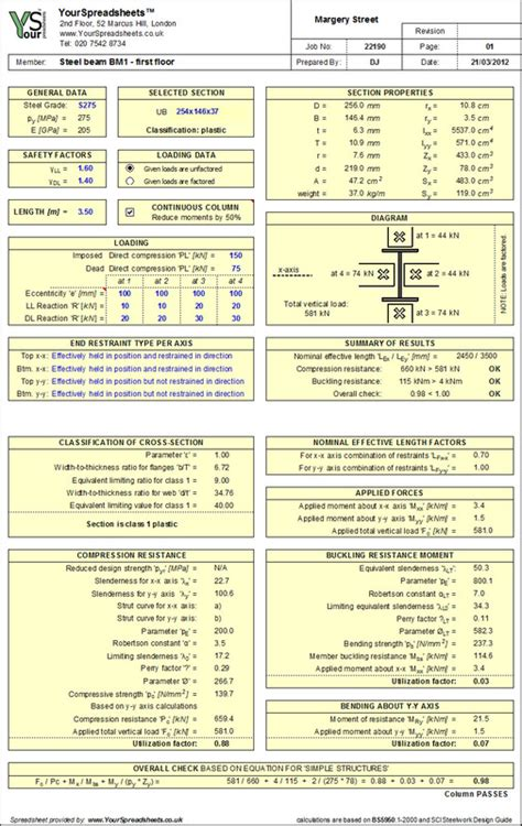 portal frame design xls steel spreadsheets yourspreadsheets