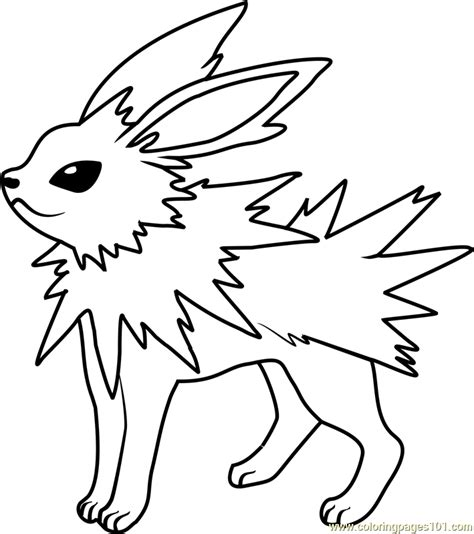 pokemon coloring pages jolteon jolteon pokemon coloring page free pok 233 mon coloring
