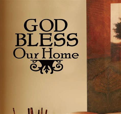 god bless our home bible religious quote vinyl wall