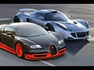 Bugatti Veyron Vs Sport Hennessey Venom Gt Vs Bugatti Veyron