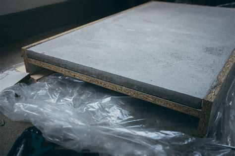 Tischplatte Aus Beton by Betonplatten Selber Machen Rheumri