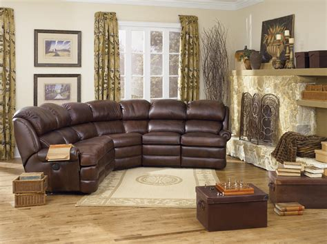 smith brothers sectional smith brothers transitional 5 piece reclining sectional