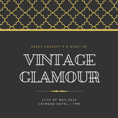 Customize 204 Great Gatsby Invitation Templates Online Canva Great Templates