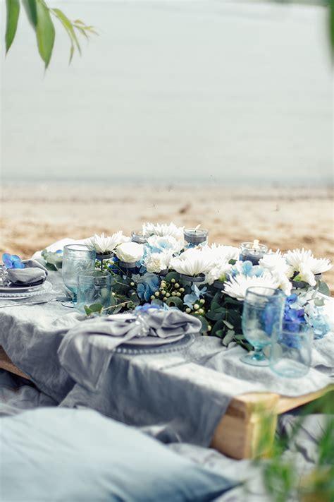 Hochzeitsdeko Grau hochzeitsdeko in grau und blau friedatheres