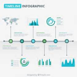 modern timeline graphic in blue and green tones vector