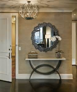 Entryway Table With Mirror 6 Ideas For Big Hallways Using Large Wall Mirror