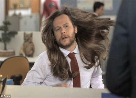 ultra feminine hair for men buzznews dove s new ad warns men against using women s