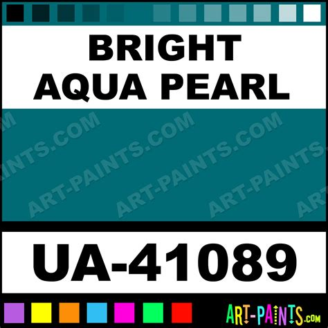 bright aqua pearl ultra glo enamel paints ua 41089