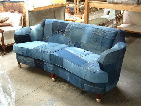 Made Sofas by Custom Made Denim Sofa Upholstered On Antique Frame