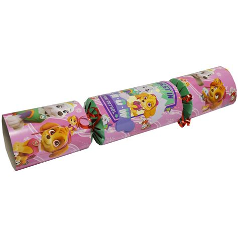 pink christmas crackers paw patrol cracker pink crackers at the works