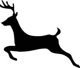 Flying reindeer silhouette deer outline profile clip art vector