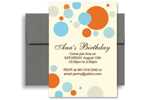 bright colorful microsoft word birthday invitation