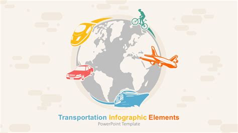 Transportation Infographic Elements Powerpoint Template Transportation Powerpoint Templates