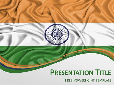 India Flag Powerpoint Template Presentationgo Com India Powerpoint Template