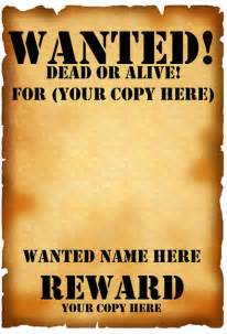 free wanted poster template printable wanted poster template fbi and west free crasy