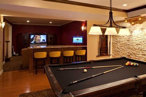 black felt pool table basement redecorating