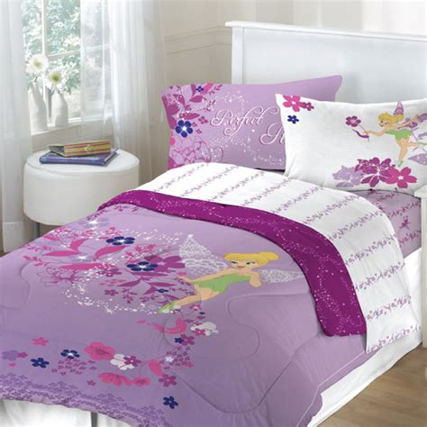 girls purple comforter tinkerbell powder purple bedding for girls