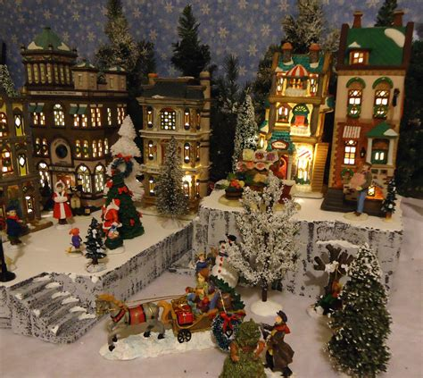 lemax christmas villages snow display platform base dept 56 lemax st nicholas square ebay