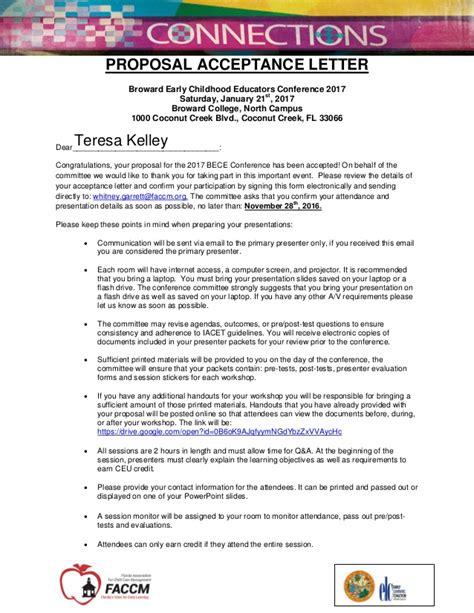 Broward College Acceptance Letter t kelley acceptance letter bece 2017 1
