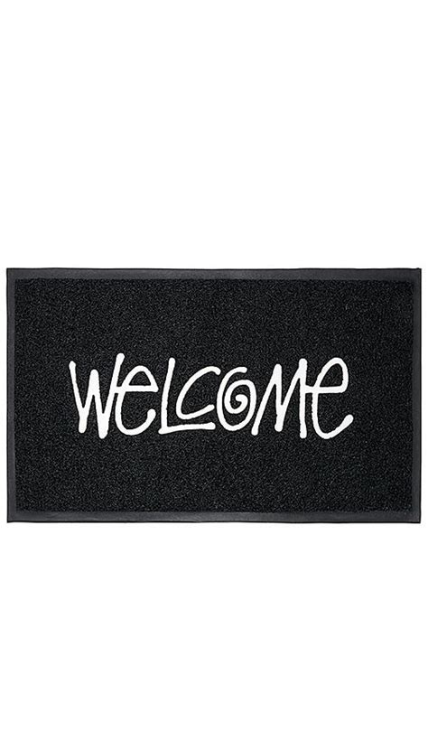 Stussy Doormat by Stussy Printed Textured Pvc Welcome Mat In Black Modesens