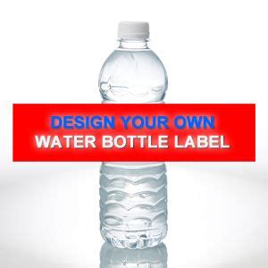 water bottle label design your own design your own personalized water bottle labels set of