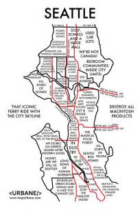 seattle map of neighborhoods 8 maps that show each city by stereotype seattle and maps