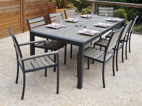 salon de jardin en aluminium newport table  chaises