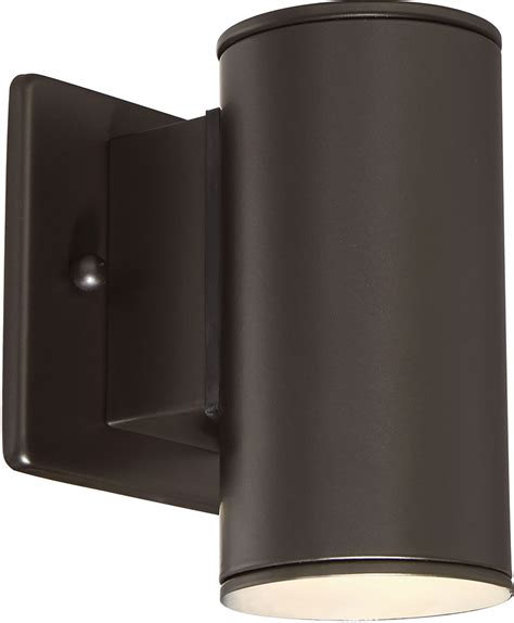 Outdoor Led Wall Sconce Designers Led33001 Orb Barrow Modern Rubbed Bronze Led Outdoor Lighting Wall Sconce