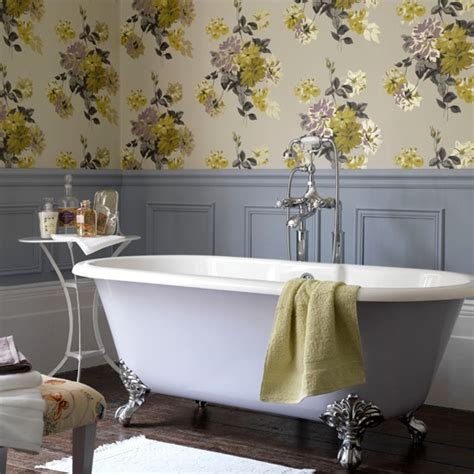 country style floral bathroom bathroom wallpapers