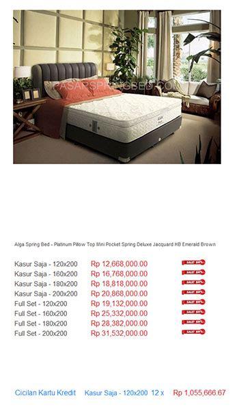 Kasur Guhdo Termurah alga bed harga bed termurah di indonesia