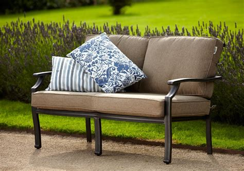hartman oliver seated sofa bench metal garden