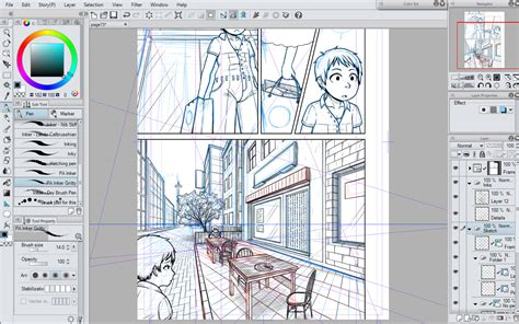 paint tool sai perspective ruler jaded bros webcomics page 82 arcade