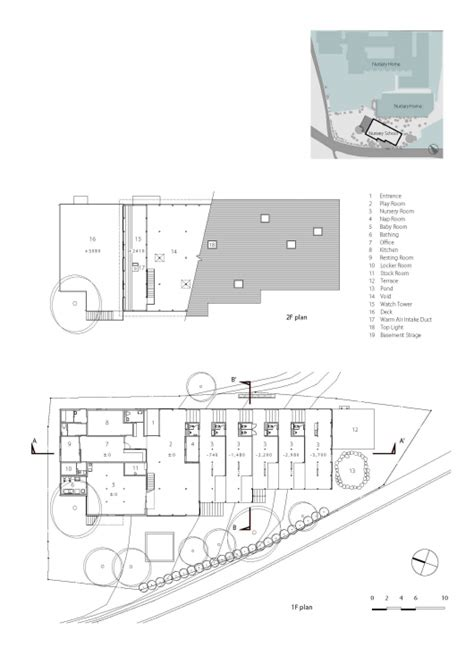 nursery school floor plan hakusui nursery school yamazaki kentaro design workshop archdaily