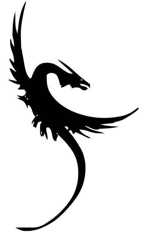 OnlineLabels Clip Art - Fantasy Dragon Silhouette