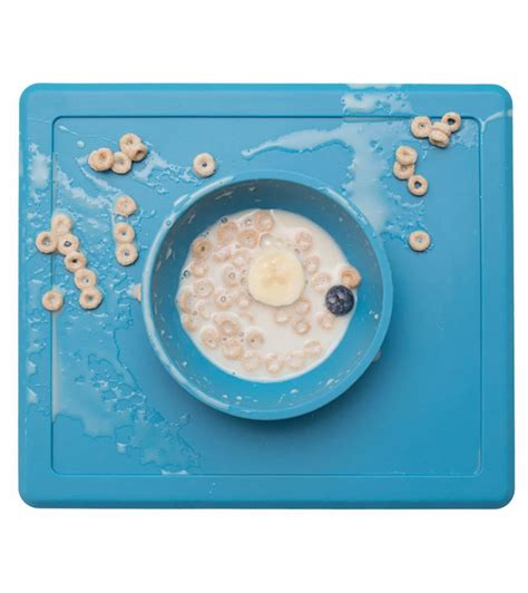 Ezpz Happy Mat Blue ezpz happy mat placemat bowl blue