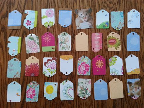gift tags made from old greeting cards recycling