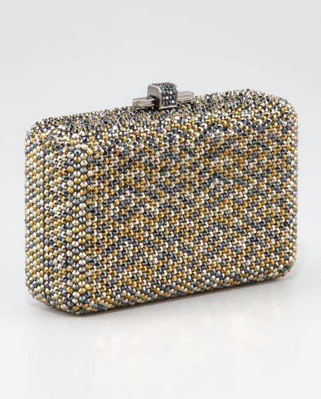 One In The World Judith Leiber Precious by Judith Leiber Paparazzi Clutch In Gold