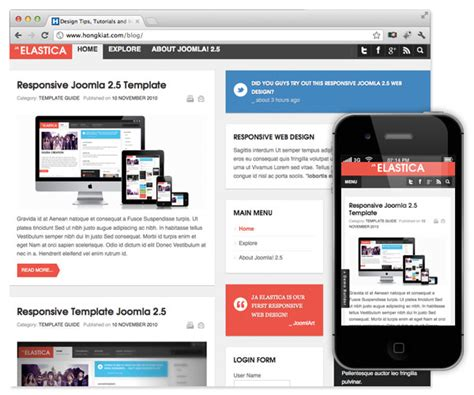 theme joomla blog top 10 free responsive joomla themes hongkiat