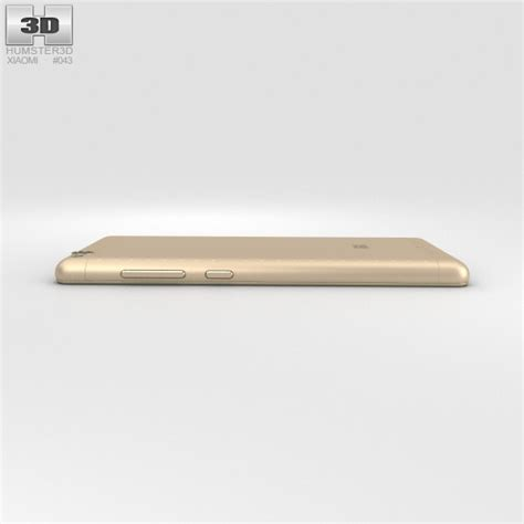 3d Xiaomi Redmi 3 xiaomi redmi 3 gold 3d model hum3d