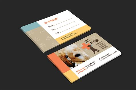 vet business card template vet clinic business card template for photoshop illustrator