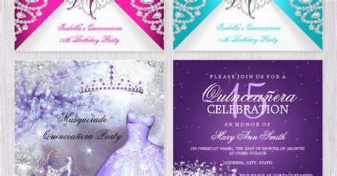 design your own quinceanera invitation quinceanera invitations with easy to edit templates to