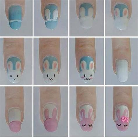 tutorial nail art kawaii easy easter nail art designs 2015 inspiring nail art