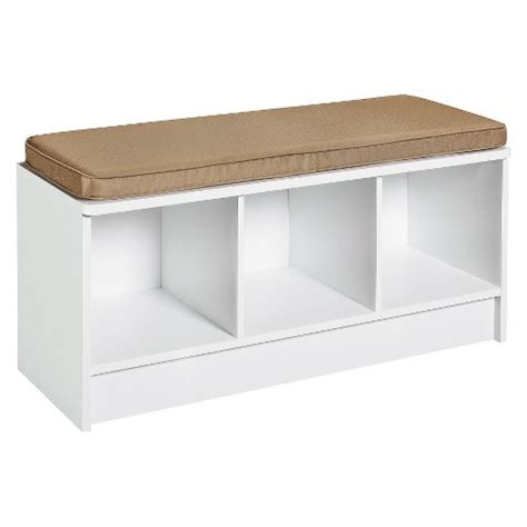 Closetmaid Storage Bench closetmaid cubeicals 3 cube storage bench white target