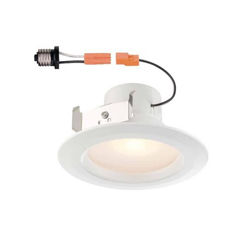 Electric Ceiling Lights Commercial Electric 4 In White Recessed Led Trim With 90 Cri 4000k Cer4730mwh40 The Home Depot