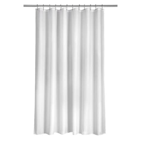 Plain White Curtains Croydex Shower Curtain In Plain White Ae100022yw The Home Depot