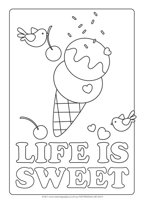 ice cream coloring pages pdf coloring pages for kids ice cream coloring pages