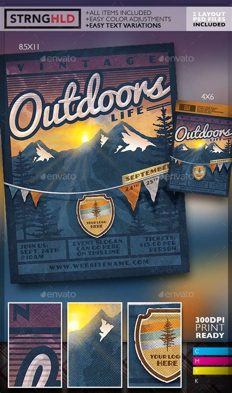 140 Best Images About Vintage Flyers On Pinterest Adobe Photoshop Flyer Template And Vintage Outdoor Flyer Template