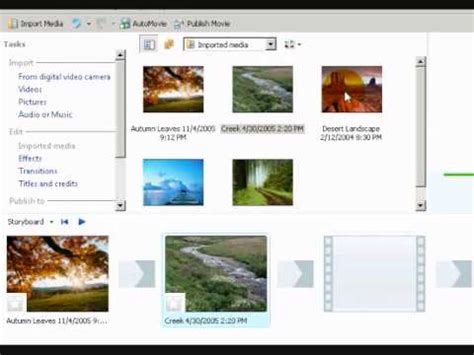 windows movie maker photo slideshow tutorial windows movie maker tutorial 1 how to make a picture
