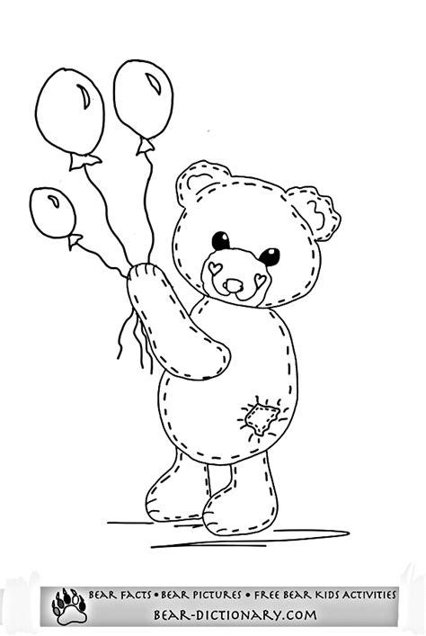 bear coloring page pdf free teddy bear coloring pages toby s teddy bear coloring