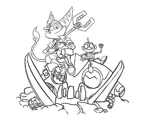 ratchet and clank movie coloring pages coloring pages